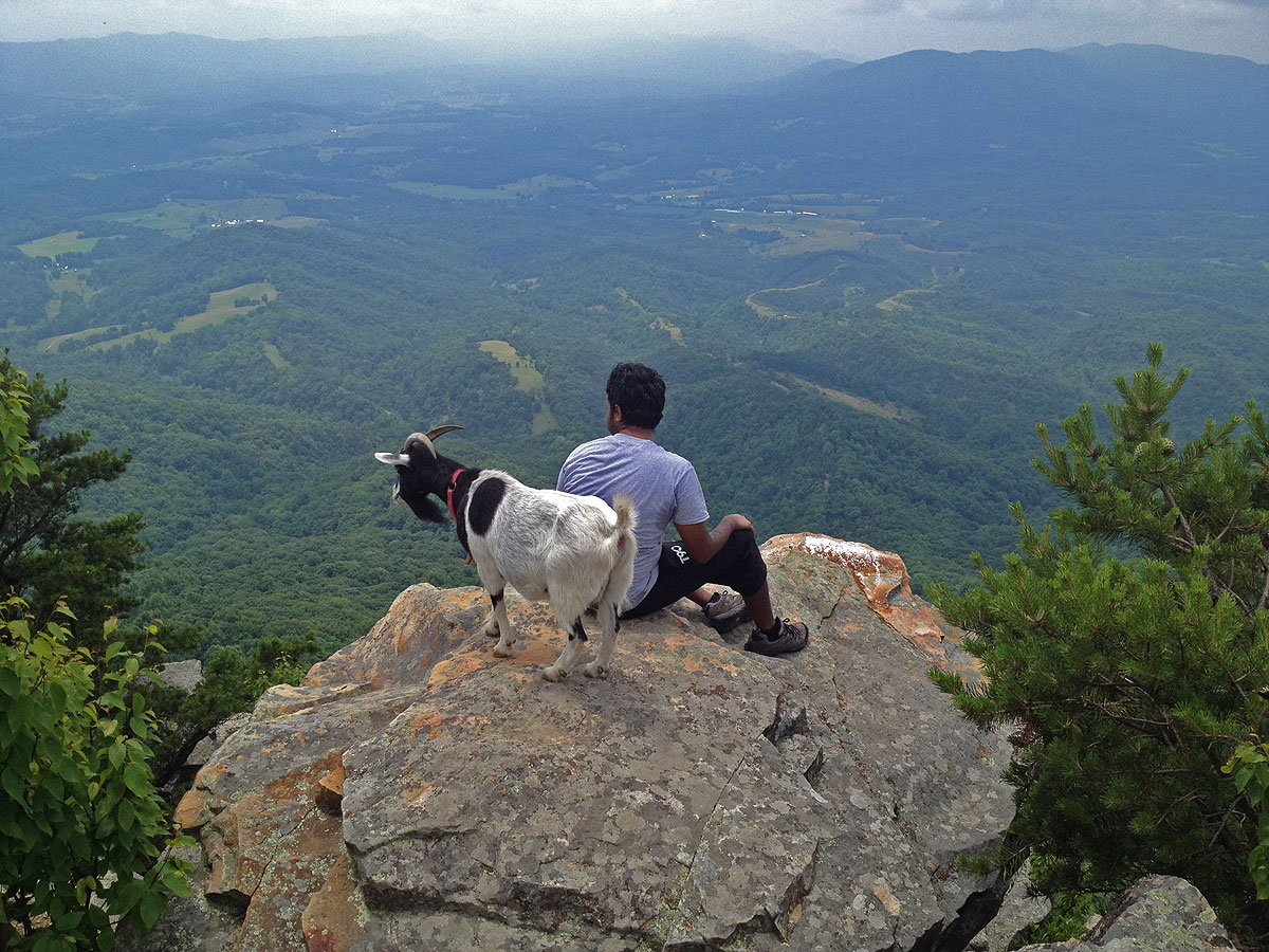 charming house mountain #5: Big House Mountain, with great views to the west from Goat Point Overlook,  ...