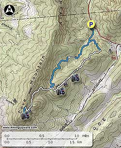 Dragons Tooth Hike - Us map dragon